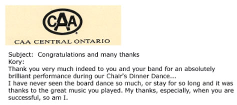 Picture of CAA Testimonial Letter
